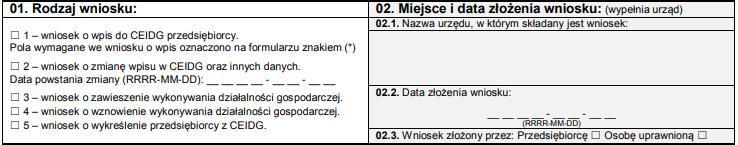 308e72c05718c0 Założenie działalności - CEIDG-1 - darmowy wzór z szerokim ...